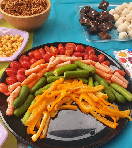 Rainbow Party Rainbow Shape Vegetable Platter