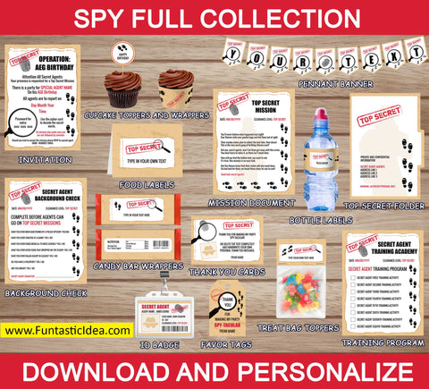 Spy Party Decorations