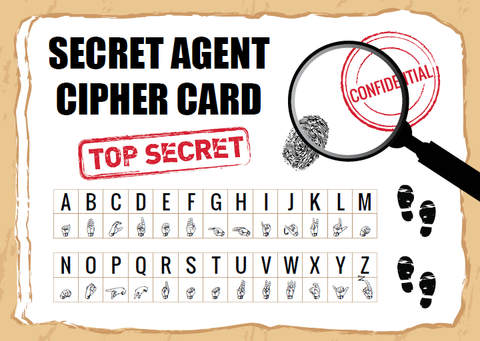 secret agent cipher code