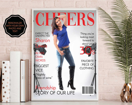 30th Birthday Fashion Magazine Gift | Personalized 30th Birthday Gift
