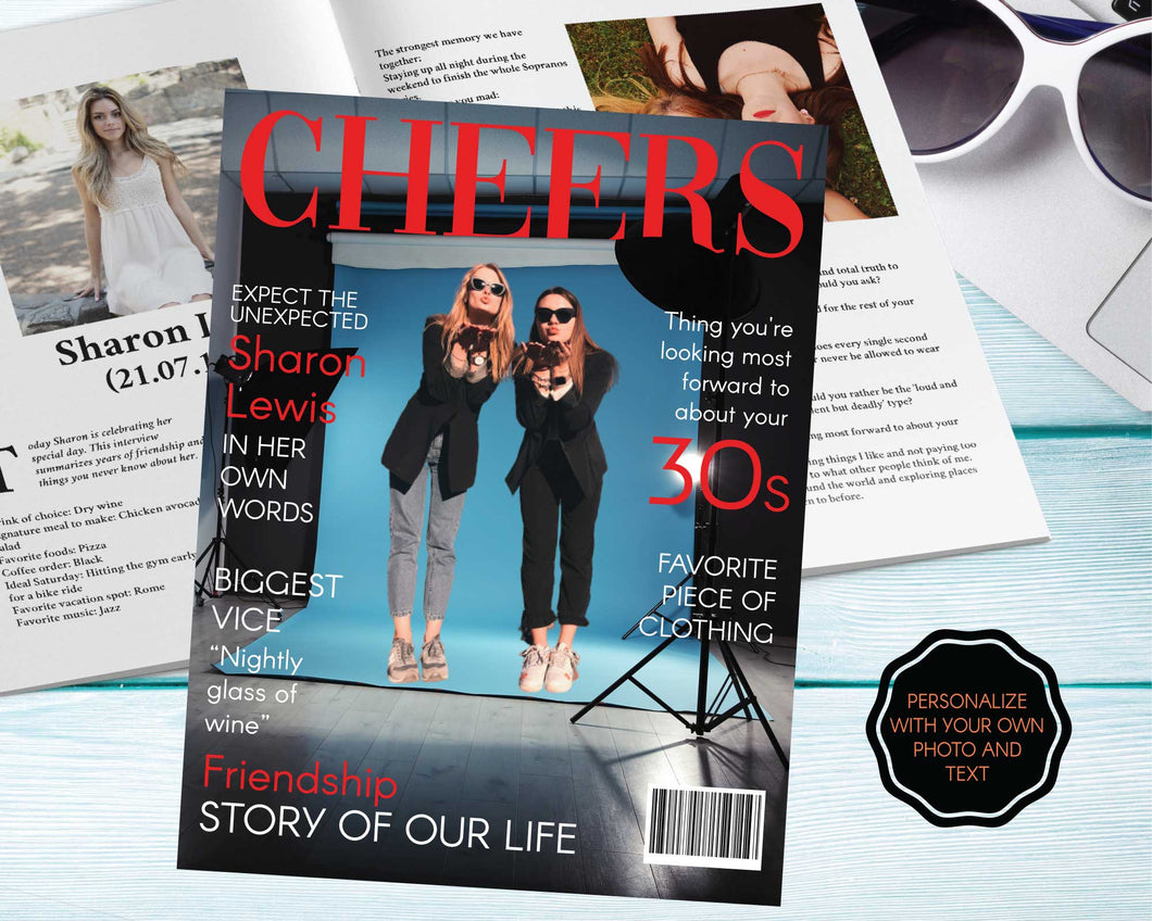 Personalized Fashion Magazine Poster | Editable Digital File