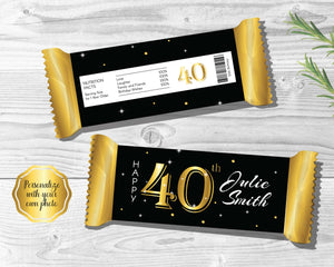 40th Birthday Candy Bar Wrapper