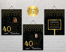 Load image into Gallery viewer, Funny 40th Birthday Signs