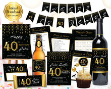 Load image into Gallery viewer, 40th Birthday Invitation and Decorations