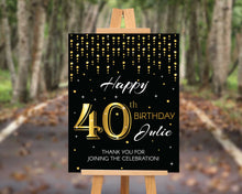 Load image into Gallery viewer, 40th Birthday Party Sign