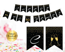 Load image into Gallery viewer, 40th Birthday Party Pennant Banner