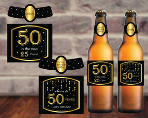 50th Birthday Beer Labels