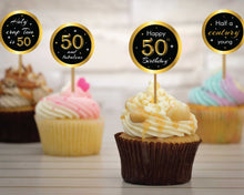 Load image into Gallery viewer, 50th Birthday Cupcake Toppers