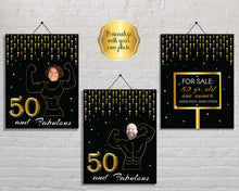 Load image into Gallery viewer, Funny 50th Birthday Party Signs
