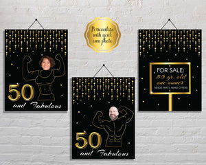 Funny 50th Birthday Party Signs