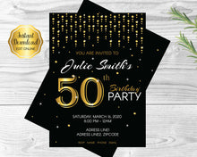 Load image into Gallery viewer, 50th Birthday Party Invitation