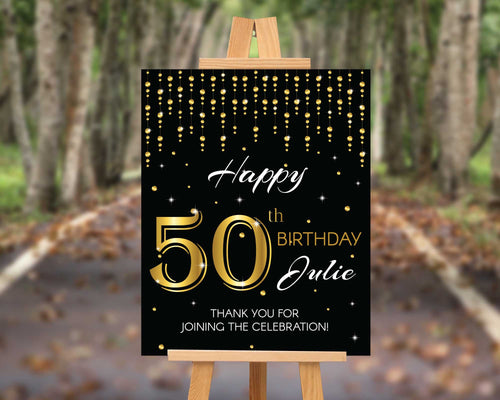 50th Birthday Party Sign