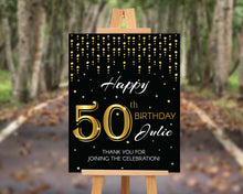 Load image into Gallery viewer, 50th Birthday Party Sign