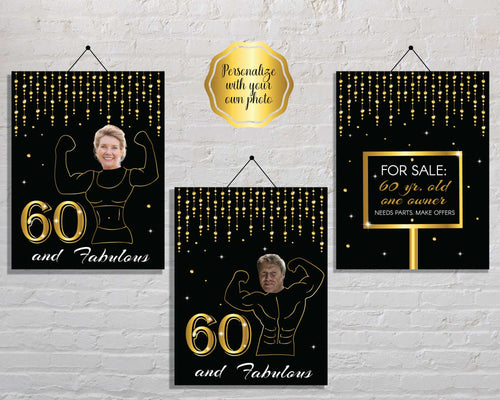 Funny 60th Birthday Party Signs