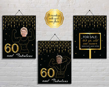 Load image into Gallery viewer, Funny 60th Birthday Party Signs