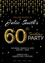 Load image into Gallery viewer, 60th Birthday Party Invitation