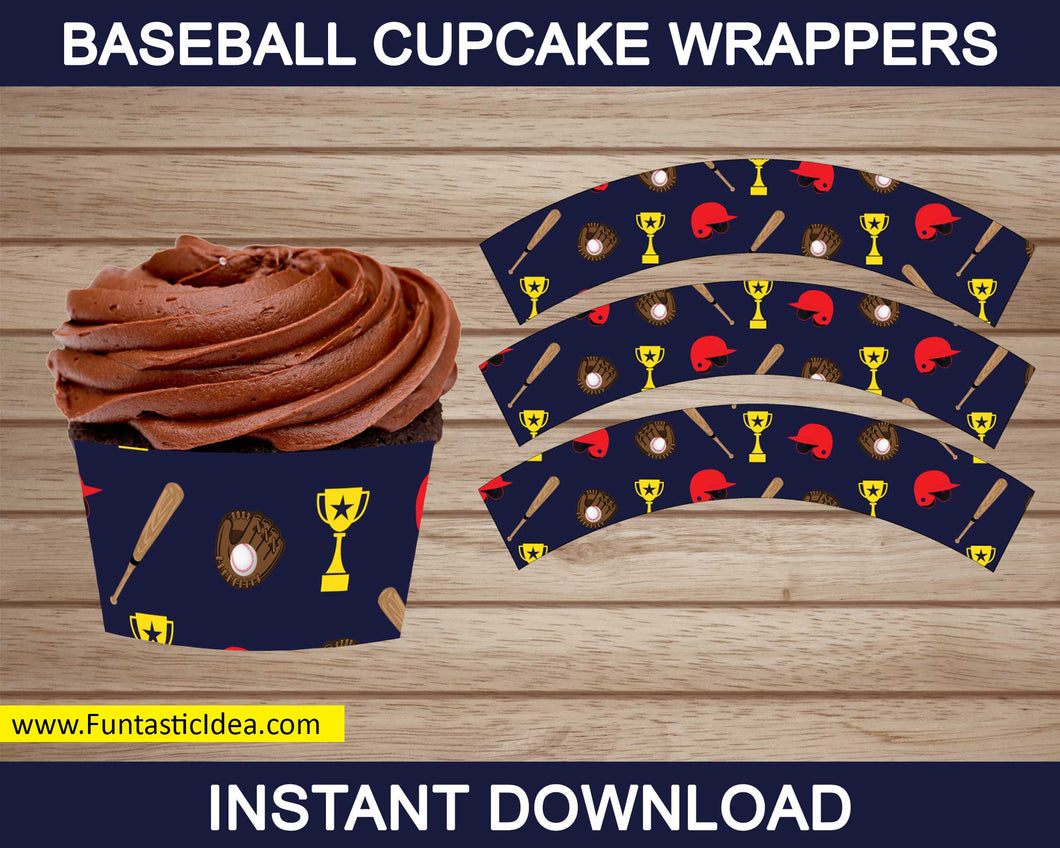 Baseball Party Cupcake Wrappers