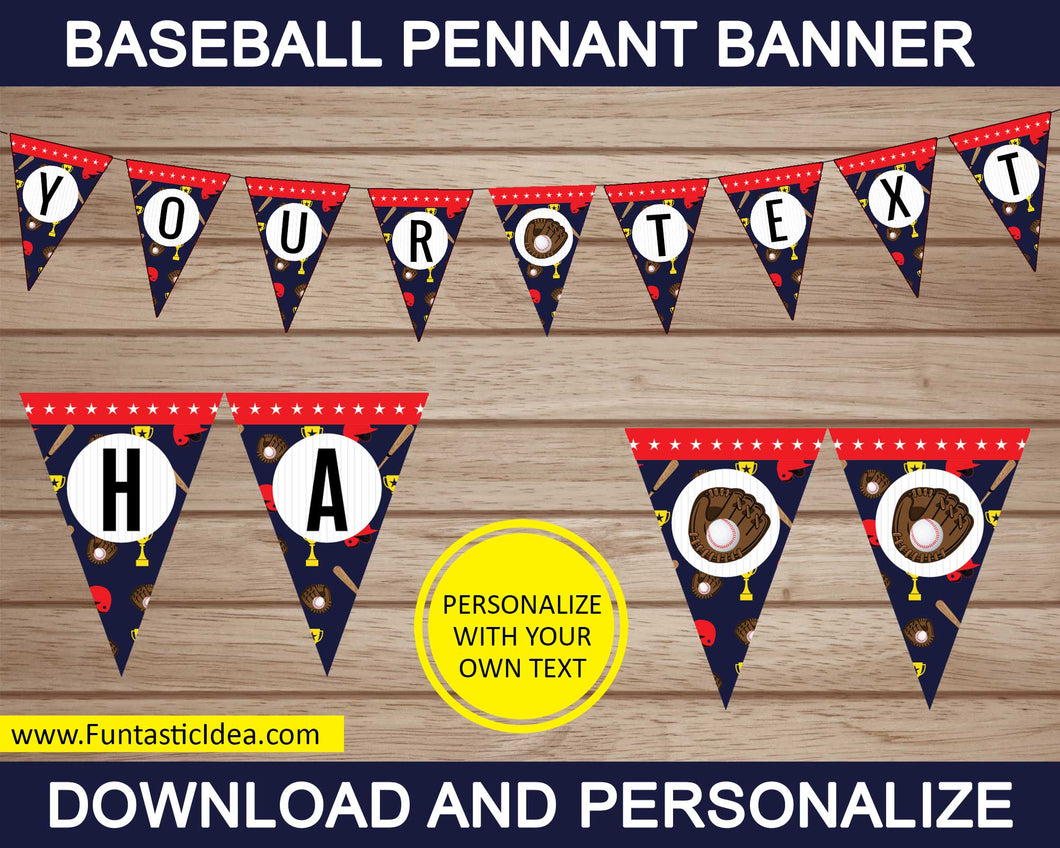 Baseball Party Pennant Banner