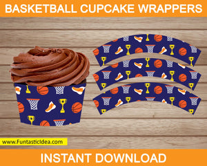 Basketball Party Cupcake Wrappers