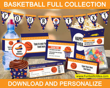 Load image into Gallery viewer, Basketball Party Pennant Banner