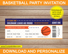 Load image into Gallery viewer, Basketball Party Invitation