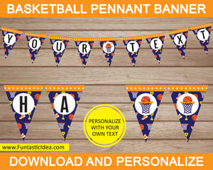 Basketball Party Pennant Banner