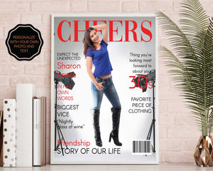 Birthday Fashion Magazine Gift with Light Cover| Editable Digital File