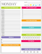 Load image into Gallery viewer, Daily Planner Printable