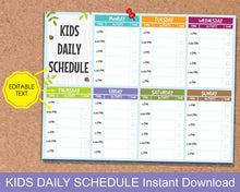 Load image into Gallery viewer, Kids Daily Schedule, Kids After School Activity Planner