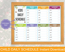 Load image into Gallery viewer, Kids Daily Schedule