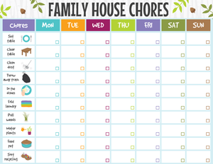 Family Cleaning Schedule Printable
