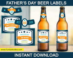 Father's Day Beer Label