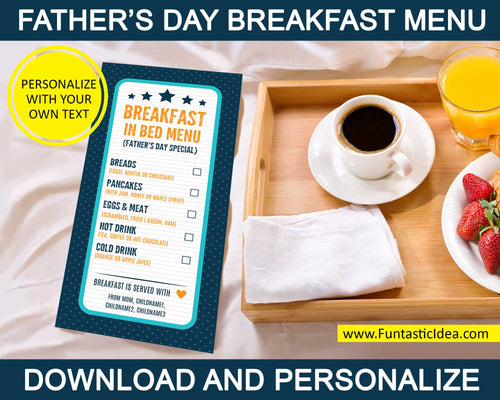 Father's Day Breakfast-in-Bed Menu