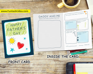 Father's Day Card from Child to Daddy