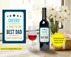 Father's Day Wine Label