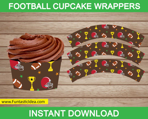 Football Party Cupcake Wrappers