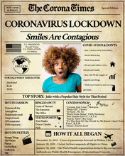 Load image into Gallery viewer, Quarantine Gift | Corona Times Newspaper Poster | Fully Editable