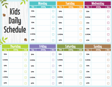 Load image into Gallery viewer, Editable Kids Daily Schedule