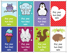 Load image into Gallery viewer, Personalized Lunchbox Notes for Kids