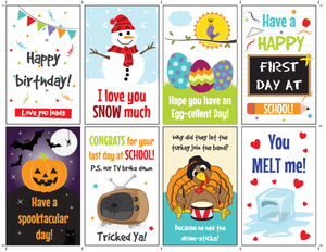 Holidays Lunchbox Notes for Kids
