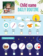 Load image into Gallery viewer, Kids Daily Routine Printable