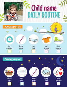 Kids Daily Routine Printable