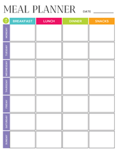 Load image into Gallery viewer, Meal Planner Printable