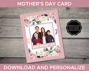 Mothers Day Card Personalized with a Photo
