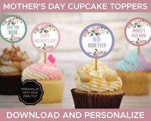 Load image into Gallery viewer, Mothers Day Cupcake Toppers