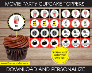 Movie Party Cupcake Toppers