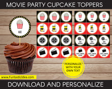 Load image into Gallery viewer, Movie Party Cupcake Toppers