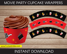 Load image into Gallery viewer, Movie Party Cupcake Wrappers