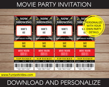 Load image into Gallery viewer, Movie Party Invitation