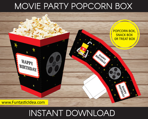 Movie Party Popcorn Box
